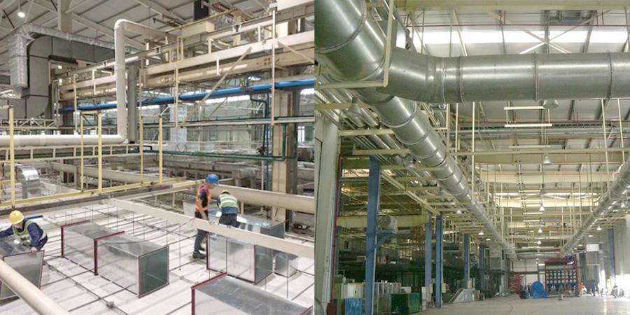 汽车制造业斯坦雷电气生产车间通风净化案例